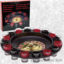 16 Shot Glass Roulette Drinking Bar Party Game Set NEW - $25.99