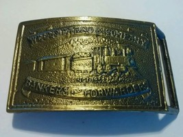 VINTAGE  WELLS FARGO AND COMPANY BELT BUCKLE B... - $18.68