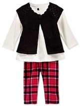 First Impressions Girls' 3-Piece Shrug, Tunic & Plaid Leggings, Size 24M, $52.5 - $17.81