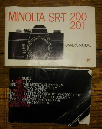 Primary image for 2 Vtg Minolta Guides SLR Camera Photography SR-T 200 201 vintage booklets