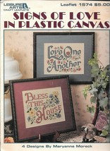 Leisure Arts #1574 - Signs of Love in Plastic Canvas - $7.43