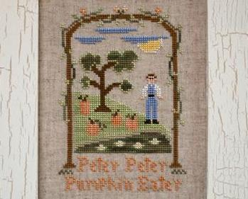 Peter Peter Pumpkin Eater cross stitch chart Country Cottage Needleworks