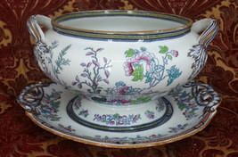 Antique Old Transferware Transfer Ware China Di... - $85.00