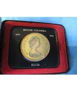 Collectible 1871 -1971 Canadian Silver Coin in Box Elizabeth II British ... - $26.99