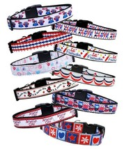 PATRIOTIC Dog Collar or Leash * 16 Designs * Puppy 4th of July American ... - €10,53 EUR+