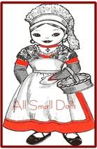 "Vintage Pattern for 16"" Cloth Doll Miss France - $6.99"