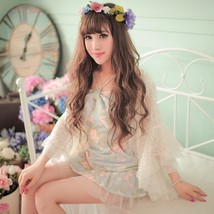 New Casual Clubbing Cute Japanese Women Lace Floral Chiffon Short Dress ... - $39.50