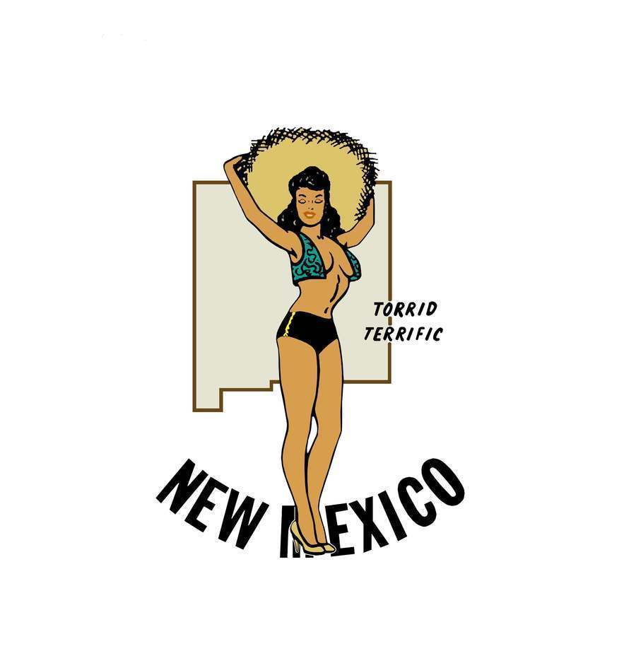 Travel Humor Hot Rat Rod Vinyl Decal New Mexico Pinup #59