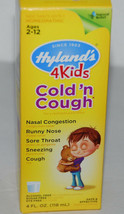Hyland's 4 Kids Cold N Cough 4 oz Homepathic NEW - $6.99