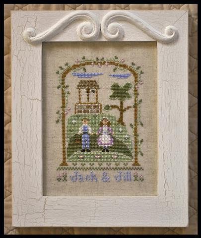 Jack and Jill nursery rhyme cross stitch chart Country Cottage Needleworks