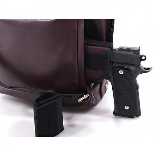 Emperia Outfitters Concealed Carry Bucket Bag - Emma (Coffee)