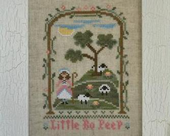 Little Bo Peep nursery rhyme cross stitch chart Country Cottage Needleworks