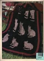 Cat kitten feline designs, 10 afghan crochet patterns Afghan Purr-fection - $16.69