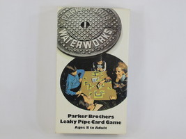 Waterworks Leaky Pipe Card Game 1972 Parker Brothers 100% Complete Bilin... - $18.68