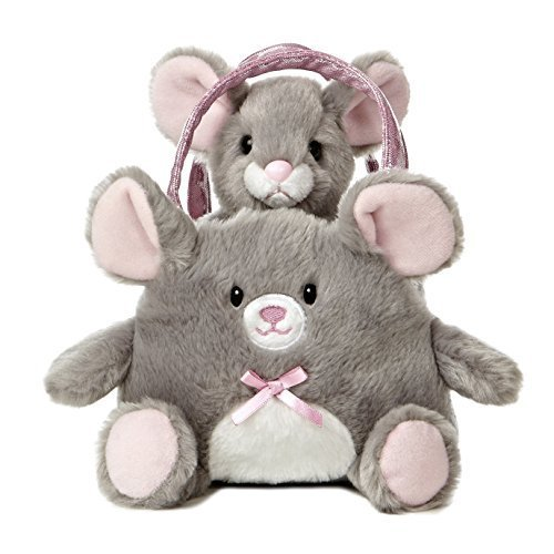 Aurora World Fancy Pals Toy Pet Carrier Plush, Mouse