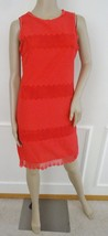 Nwt Max Studio Woven Eyelet Lace Trim Sleeveless Shift Dress L Large Red... - $57.37