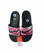 Nike Benassi JDI PRINT Slides-Sandals Black/Fuchsia Women's Size 9 61891... - $33.99
