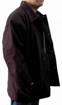 Mens Burgundy long sleeve wool jacket Quater Length Wool Jacket Coat M-2X - $57.00
