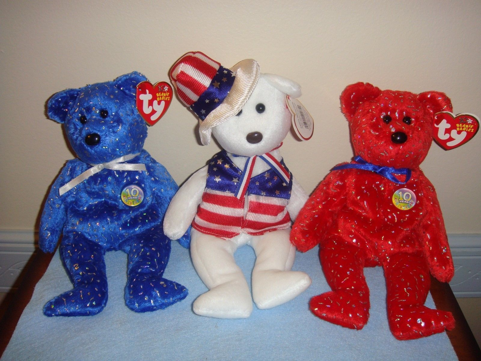 Ty Beanie Babies Sam Red Decade And Blue and 50 similar items 1e470f81ac7