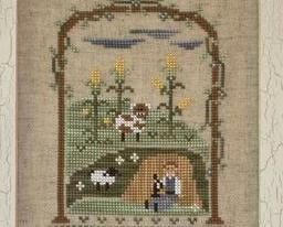 Little Boy Blue nursery rhyme cross stitch chart Country Cottage Needleworks