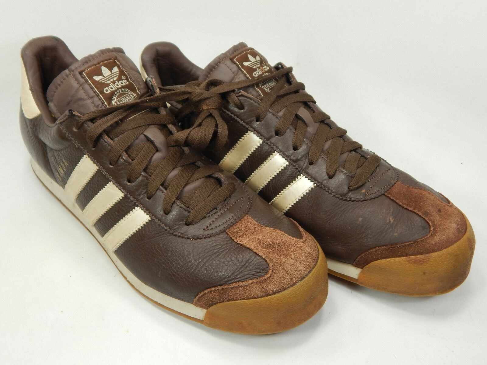 Adidas Samoa Size US 12 M (D) EU 46 2/3 Men's Casual Sneakers Shoes Brown 678867