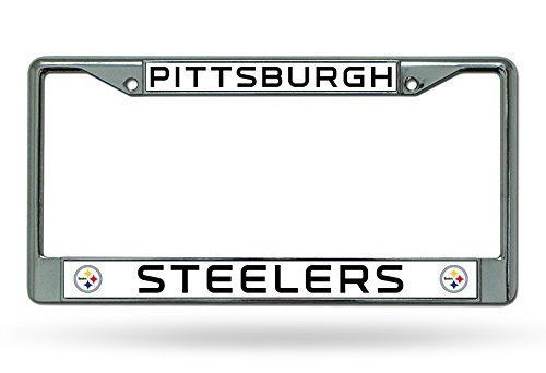 CHROME PITTSBURGH STEELERS CAR AUTO METAL LICENSE PLATE TAG FRAME NFL FOOTBALL