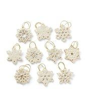 "Lenox Snowflake 10-Piece Ornament Set (Approximately 1.37"") - £135.04 GBP"