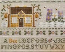 A Bee C Sampler garden cross stitch chart Country Cottage Needleworks