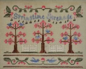 Springtime Serenade cross stitch chart Country Cottage Needleworks