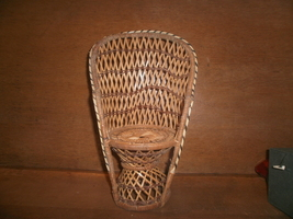 Small Wicker Chair , Dolls , Bears , Plant Stand - $5.00