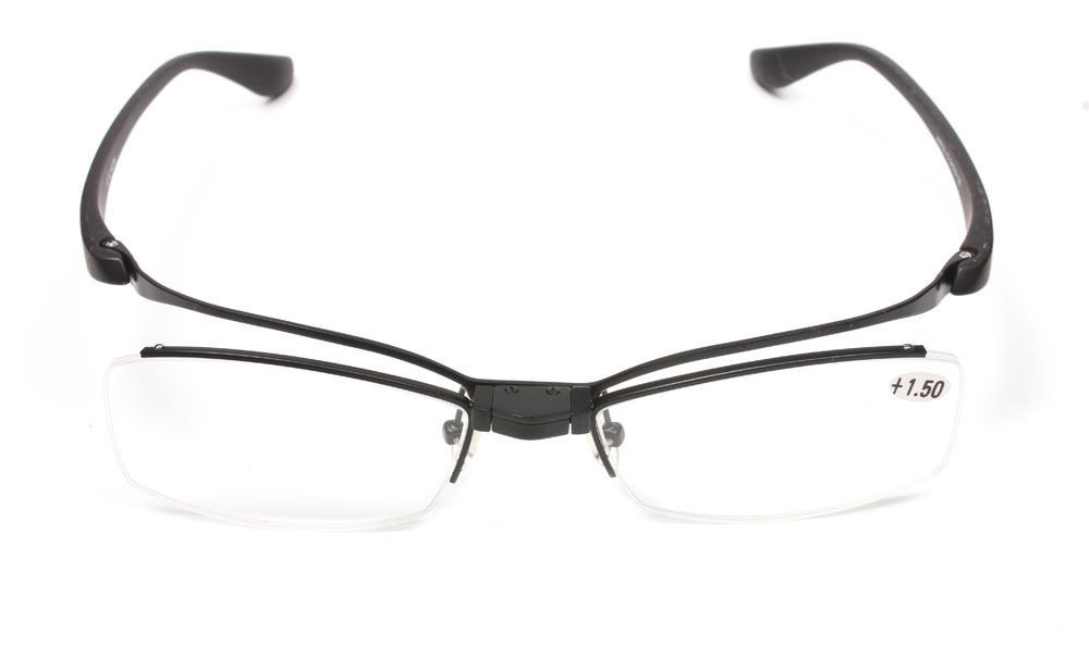 designer flip up lenses reading glasses metal readers 1
