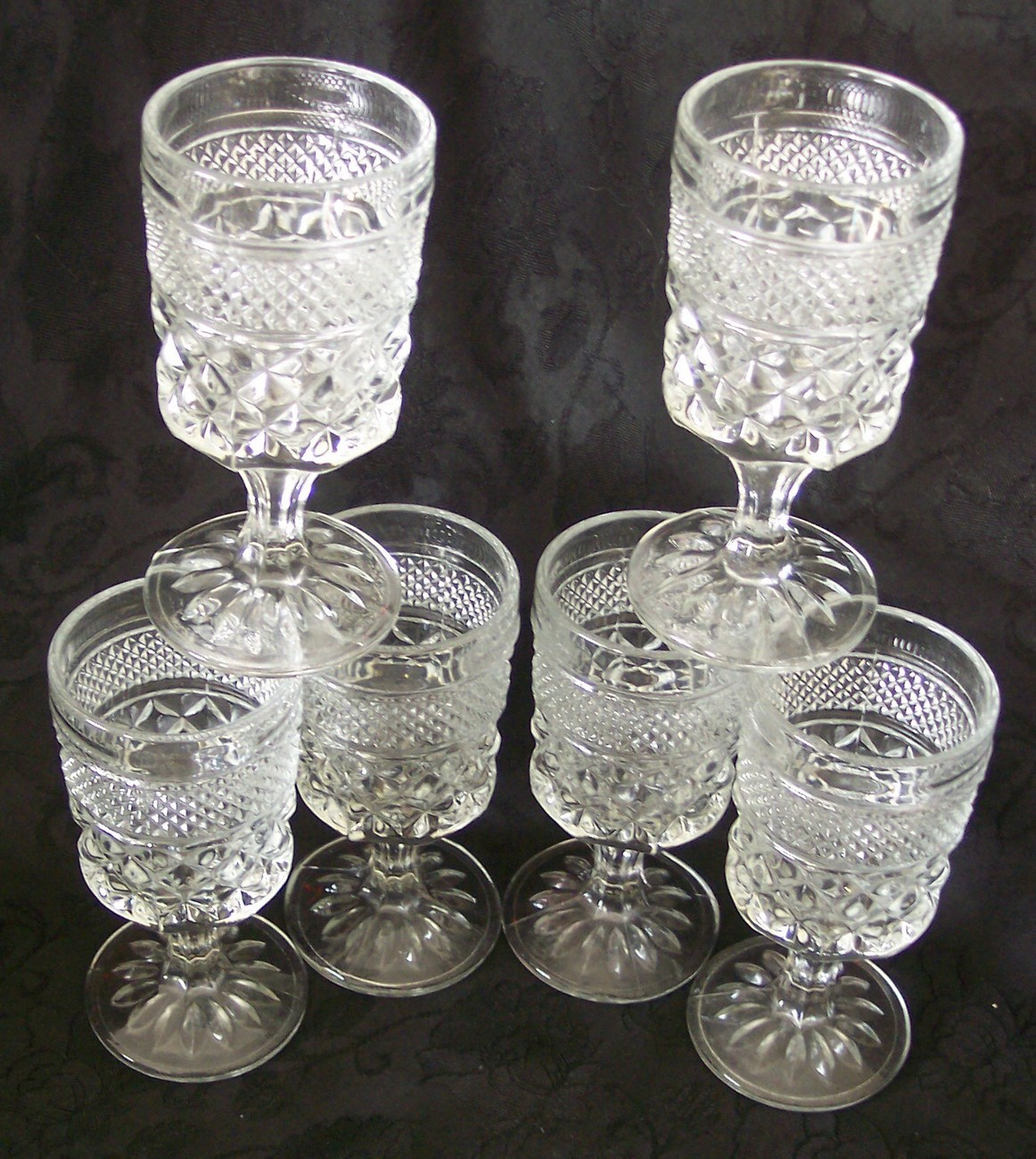anchor hocking wexford claret wine goblets glasses vintage. Black Bedroom Furniture Sets. Home Design Ideas