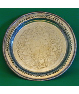 "Vintage (1938-1976) WM Rogers #170 Silverplate 12"" Round Serving Tray - $7.95"