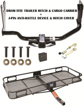 2010 2013 Ford Transit Connect Trailer Hitch + Cargo Basket Carrier + Silent Pin - $383.43