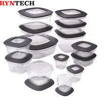Rubbermaid Premier Food Storage Containers, 28-Piece Set, Grey - $52.07