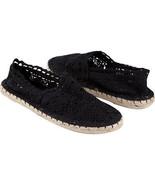 Soda Crochet Espadrille Black Shoes Size 6 Brand New - $25.00