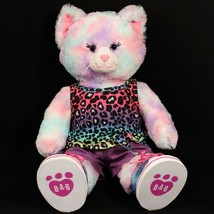 Build A Bear Plush Swirl Tie-Dye Kitty Cat Pink Purple Shoes Shirt Short... - $29.99
