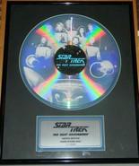 Star Trek Next Generation Ltd Ed Num Laser Etched Disc Framed & Matted N... - $174.14