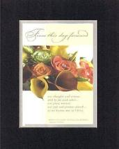 From this day forward 8 x 10 Inches Biblical/Religious Verses set in Dou... - $11.14
