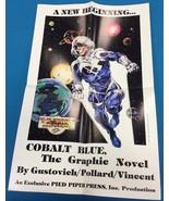 """COBALT BLUE Gustovich (1986) Pied Piper Press Comics 16"""" x 24"""" promo poster - $9.89"""