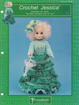 Jessica, Td Creations Crochet 13 inch Bed Doll Clothes Pattern Booklet P... - $4.95