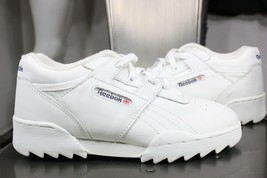 vintage Reebok classic sneakers womens 4.5 new 90's leather shoes white - $50.00