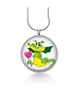 Dragon Necklace - Love - Dragon Gift - Gifts fo Her - Jewelry - $18.32