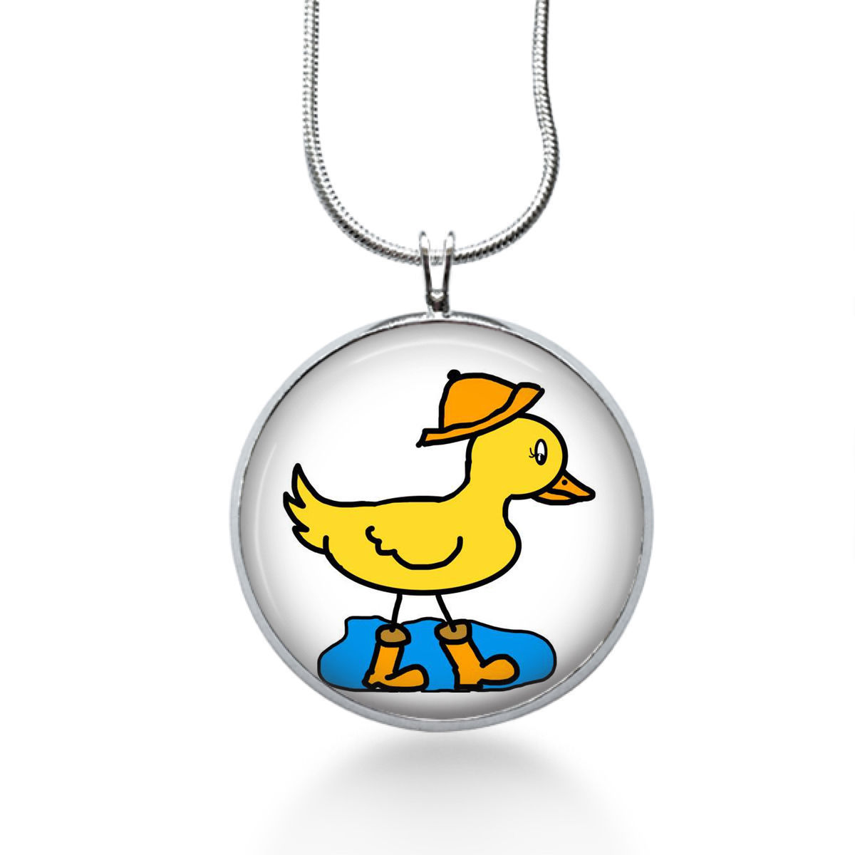Primary image for Duck in Water Necklace - Birds - Animal Gift - Gifts for Her - Jewelry