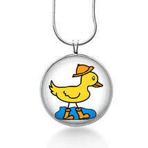 Duck in Water Necklace - Birds - Animal Gift - Gifts for Her - Jewelry - $18.32