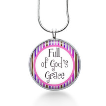 Full of Gods Grace Necklace - Church Gift - Gifts for Her - Jewelry - $18.32