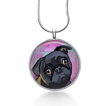 Pug Dog Necklace - Animal Gift - Gifts for Her - Jewelry - $18.32