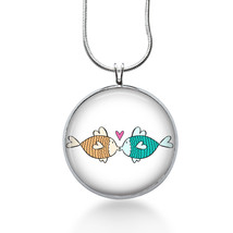 Fish Love Necklace - Fish - Love Gift - Gifts for Her - Jewelry - $18.32