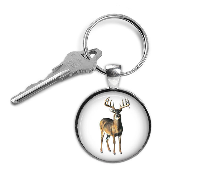Primary image for Deer Keyring, Gifts for Him, Gifts for Her, Key Chain