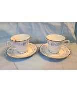 2 Footed Cups and Saucers- Legendary by Noritake-Dearborn-4218. NEVER BE... - $29.99